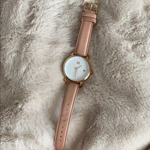 MVMT WATCH ROSE GOLD LEATHER